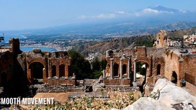 Ancient Theatre And Etna