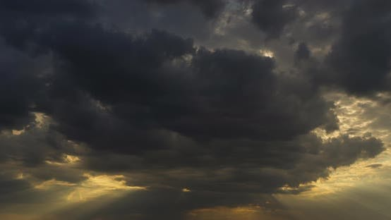 Thumbnail for Stormy Clouds on Sunset Before Hurricane