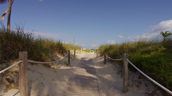 Thumbnail for Wooden beach walkway