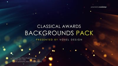 Cinematic Classical Awards Backgrounds