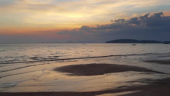 Thumbnail for Landscape After Sunset on the Tropical Beach