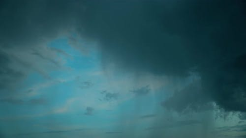 Time Lapse Timelapse Night View Blue Cloudy Rainy Sky