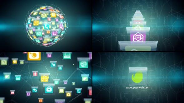 Thumbnail for Hitech Glassy Icons Logo Revealer
