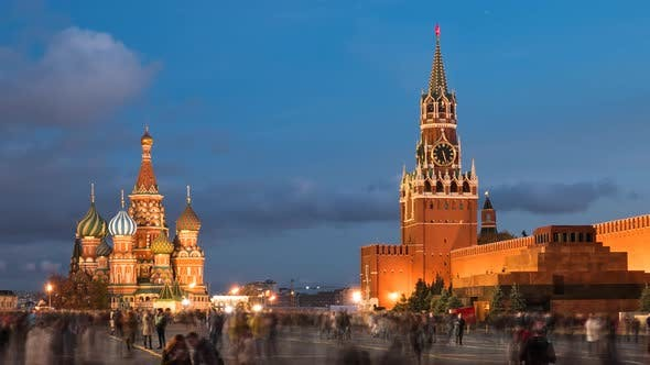 Thumbnail for Night Hyperlapse of Red Square, Moscow