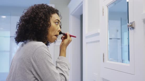 Thumbnail for Black woman getting ready in the morning