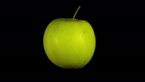 Thumbnail for Rotating Isolated Yellow Apple