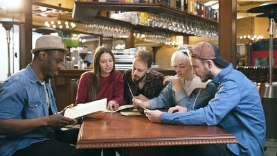 Company of Young Friends Reading Menu
