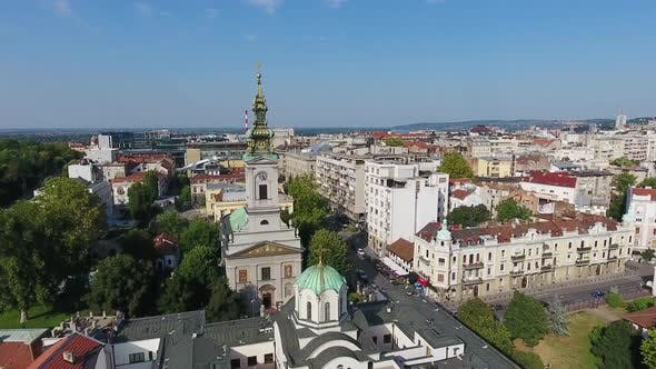 Thumbnail for Aerial View of Belgrade Saint Michael Cathedral