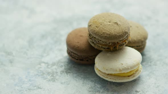 Thumbnail for Delicious Macarons Pastries on Marble