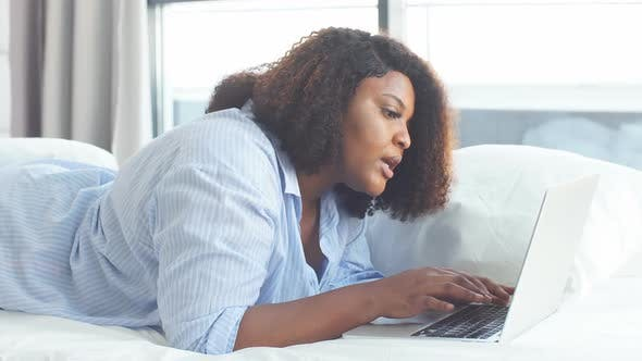Thumbnail for Frustrated Woman Staring at the Screen of Computer, Surprised Girl Using a Laptop.