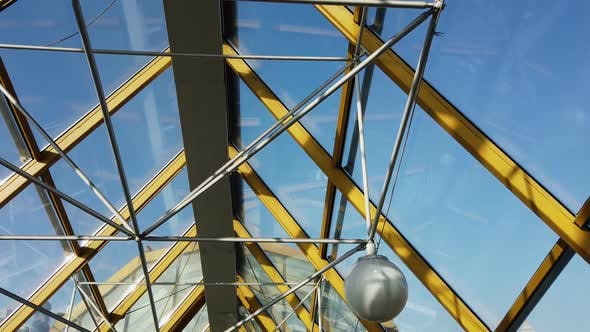 Thumbnail for Metal Frame with Glass Ceilings, Modern Roof of the Building
