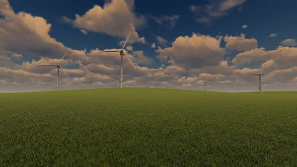 windmills At landscape