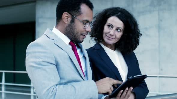 Professional Business People with Tablet Pc