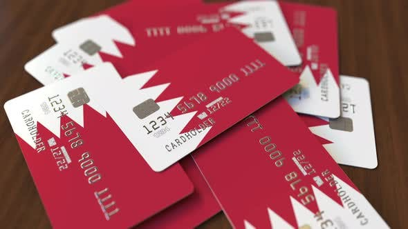 Thumbnail for Pile of Credit Cards with Flag of Bahrain