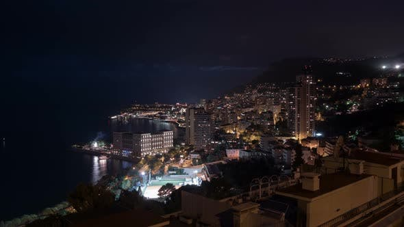 Thumbnail for Night timelapse of Monaco