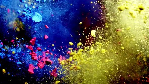 Mix Colored Powder Explosion