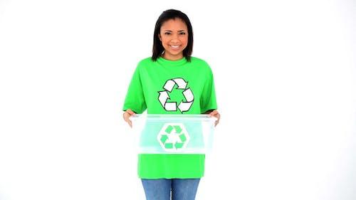Friendly Smiling Environmental Activist