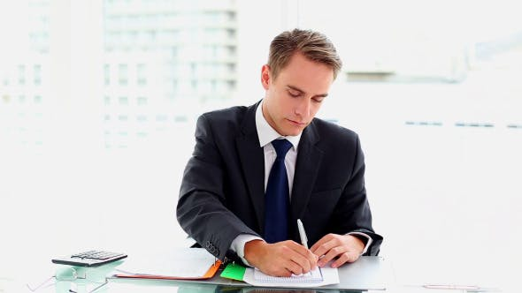 Thumbnail for Desperate Attractive Businessman Working