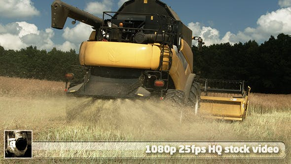 Thumbnail for Modern Harvester On The Field 12