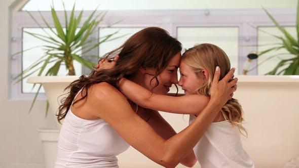 Thumbnail for Mother Hugging Her Little Girl