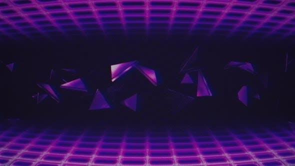 Retro Bg Grid Triangles