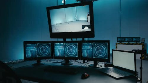 Empty Test Chamber with Computers