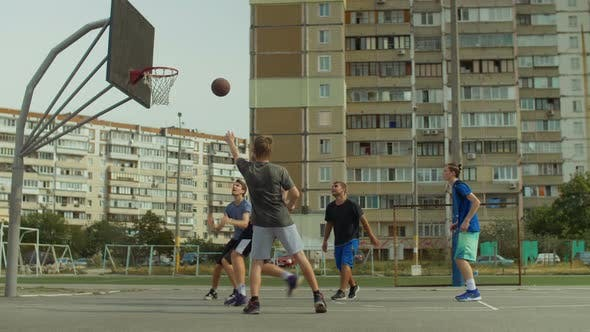 Thumbnail for Streetball Player Setting Up Alley-oop To Teammate