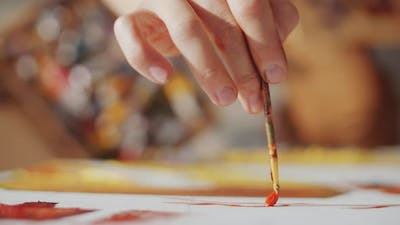 Painting Picture with Brush