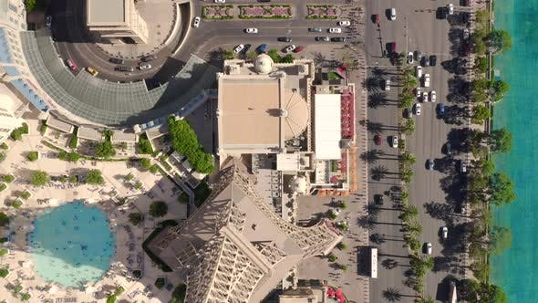 Thumbnail for View at Quay Street at Las Vegas. Aerial Drone Shooting,
