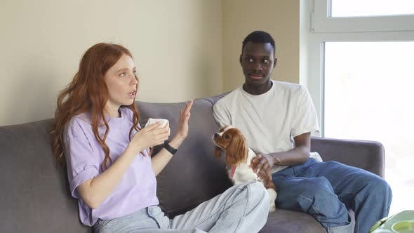 An AfricanAmerican Man Decided to Give His Girlfriend a Dog and the Woman is Allergic She Sneezes