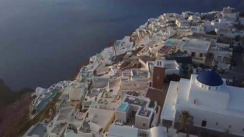 Aerial View of Imerovigli, Santorini