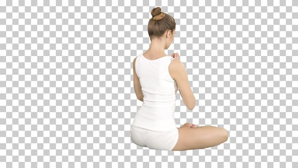 Thumbnail for Yoga sport, training and lifestyle concept - Young blonde woman