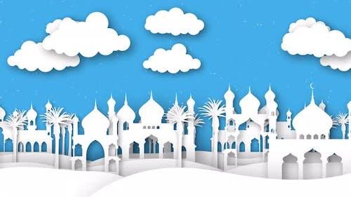 Ramadan Islamic Paper Town 2
