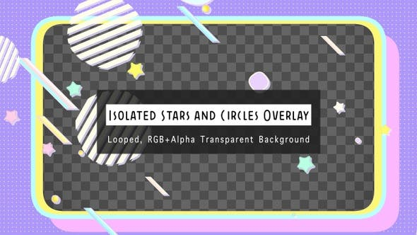Isolated Stars And Circles Overlay