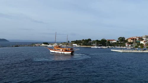 Cruise ship at the Mediterranean Sea