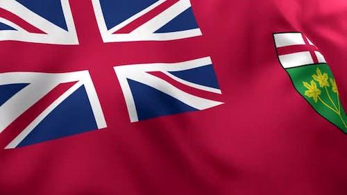 Ontario Flag - 4K