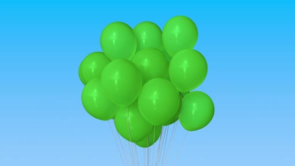 Thumbnail for Green Helium Balloons