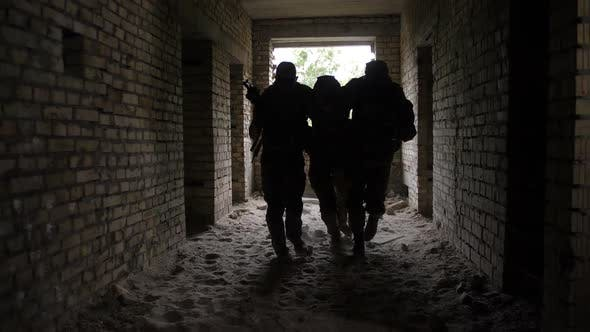 Thumbnail for Infantry Soldiers Carrying Wounded Fellow Warrior