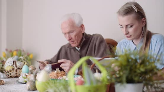 Thumbnail for Family At Dining Table During Easter