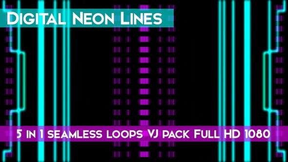 Thumbnail for Digital Neon Lines VJ Loops