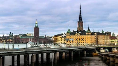 4K Timelapse of Stockholm Sweden Scandinavia