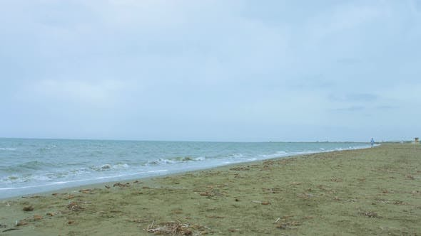 Thumbnail for Young Woman Running at Seaside, Living Active Lifestyle for Healthy Fit Body