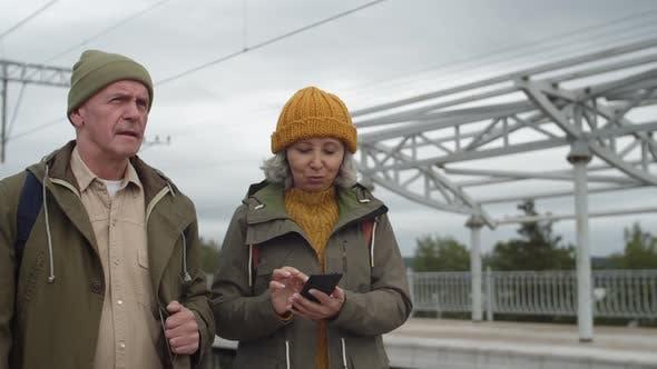 Thumbnail for Two Seniors on Train Station