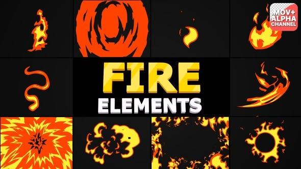 Cartoon Fire Pack   Motion Graphics