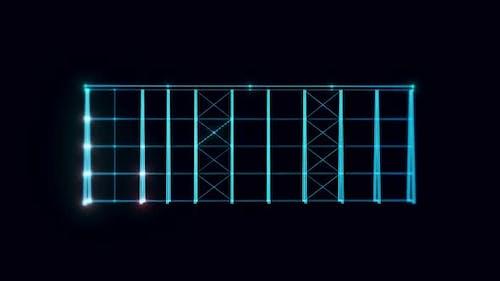 Structure Analysis Hologram Rotating 4k
