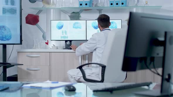 Thumbnail for Doctor Working in Modern Research Center