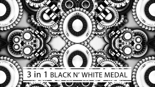 Black And White Medal