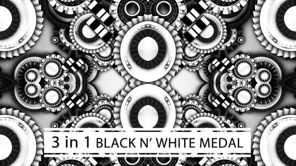 Thumbnail for Black And White Medal