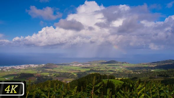 Cover Image for Fluffy Clouds over Azores San Miguel Island