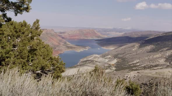 Thumbnail for Dolly shot overlooking Flaming Gorge in the distance.